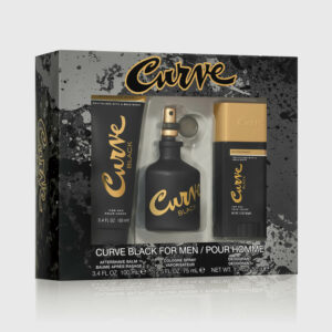 Curve Black Cologne For Men 3 Piece Gift Set Angled 2